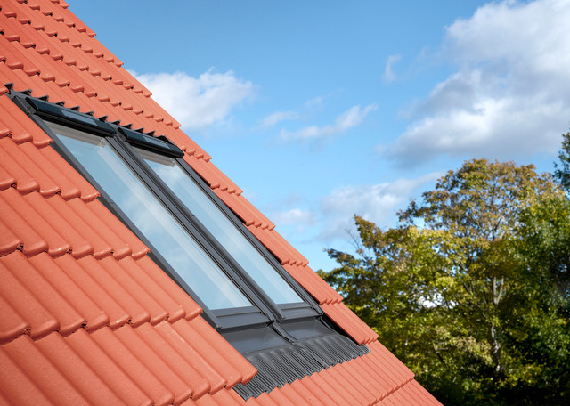 VELUX Coupled Roof Windows - Exterior View - Contemporary ...
