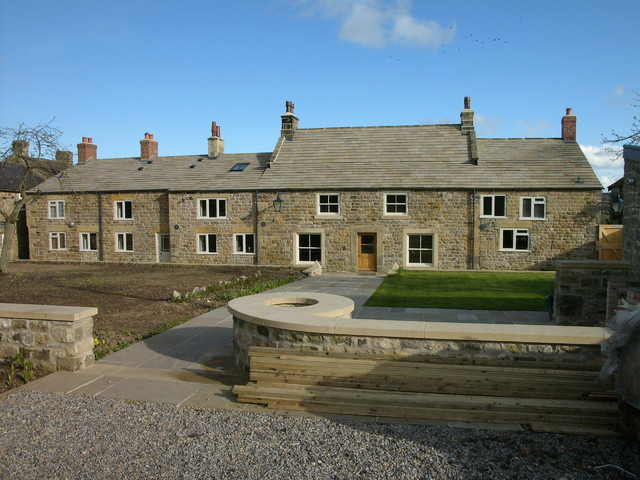 Village house exterior contemporary exterior for Modern house yorkshire