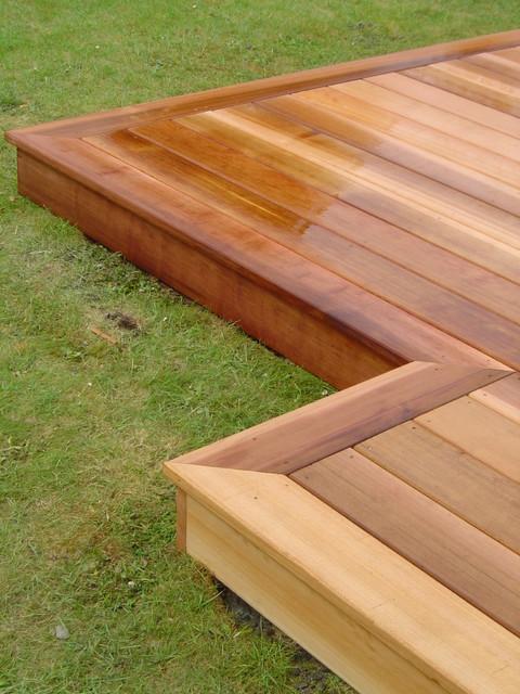 Western Red Cedar Deck By Green Onion Rustic Exterior