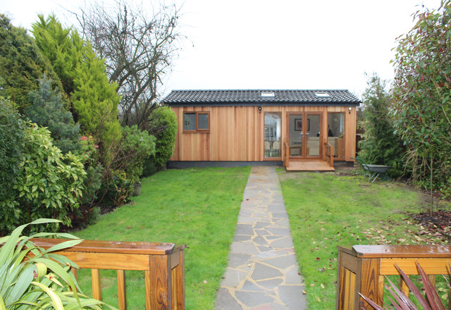 Wooden Annexe Cedar Cladding With Light And Airy