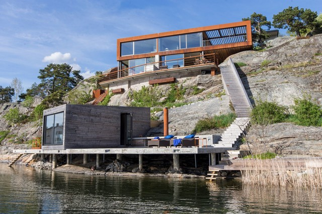 waterfront house archipelago modern-fasad