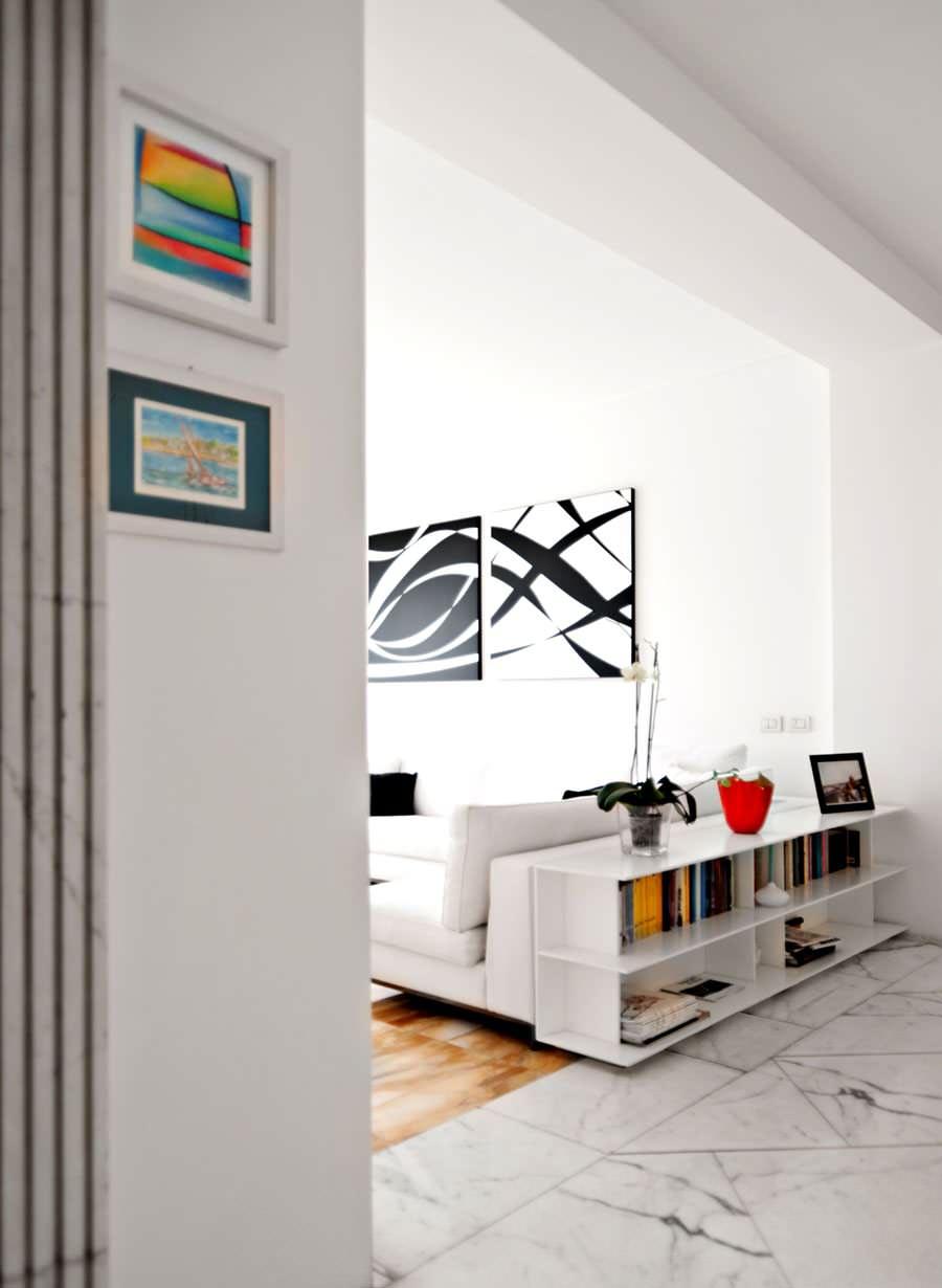 Black & white - 110 mq - zona giorno