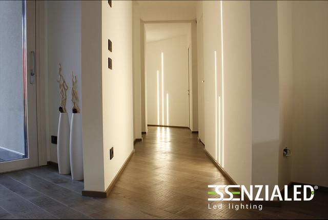 Illuminazione corridoio moderno corridoio milano di
