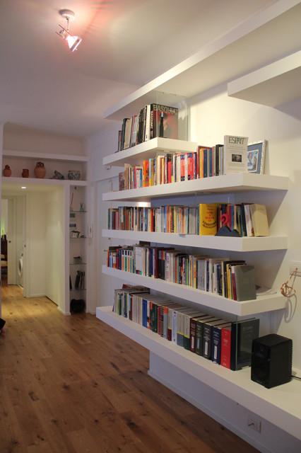 Librerie Moderne In Cartongesso.Libreria Lineare In Cartongesso Moderno Corridoio Roma Di