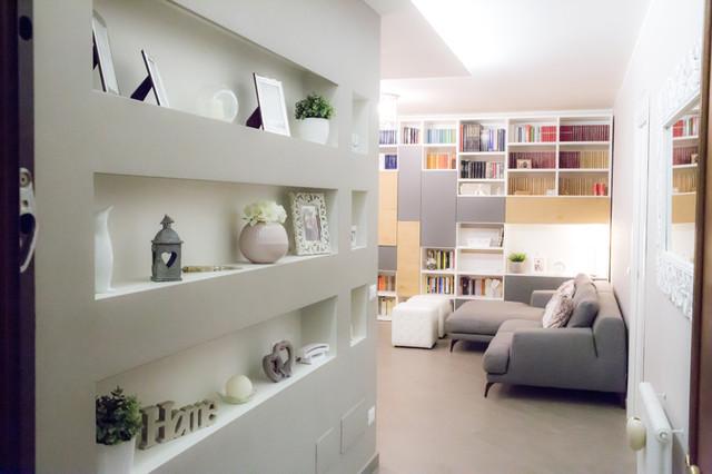 Progettazione ristrutturazione appartamento stile for Design in stile romano