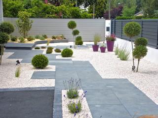 Jardin contemporain avec du gravier : Photos et idées déco ...