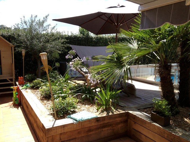 Am nagement jardin contemporain jardin autres for Amenagement terrasse de jardin