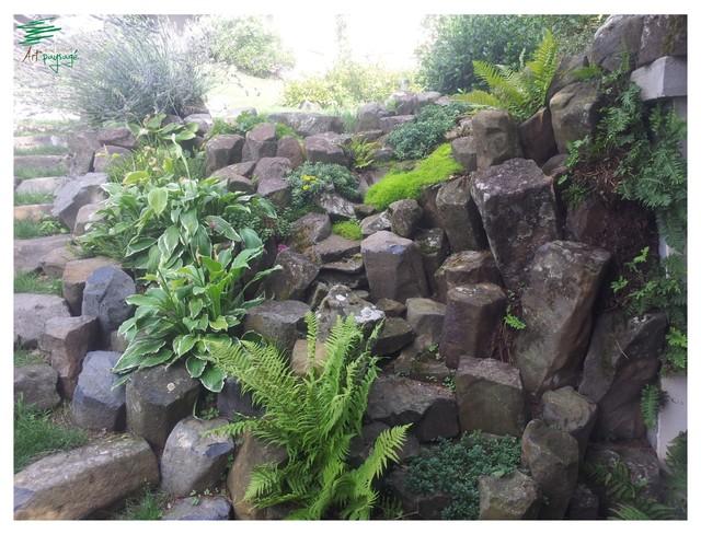 Am nagement paysager autour d 39 une magnifique piscine campagne jardin clermont ferrand - Amenagement jardin photos clermont ferrand ...