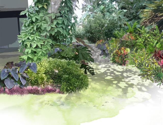 Bain de soleil contemporain jardin marseille par rc paysage - Jardin contemporain pente marseille ...