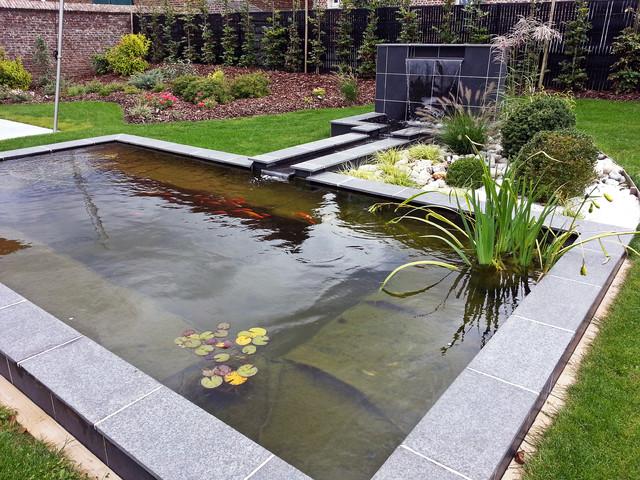 Bassin et lame d\'eau - Moderne - Jardin - Lille - par Carnel Pépinières
