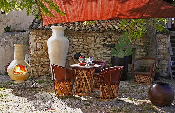 brasero mexicain m diterran en jardin marseille par amadera. Black Bedroom Furniture Sets. Home Design Ideas