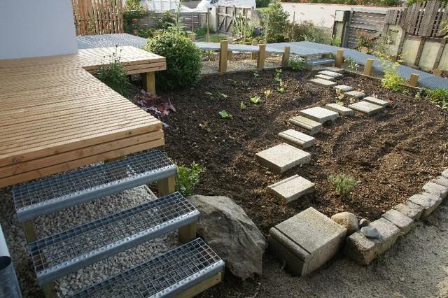 Cheminement surélevé acier et bois FREEDECK - Modern - Garten ...