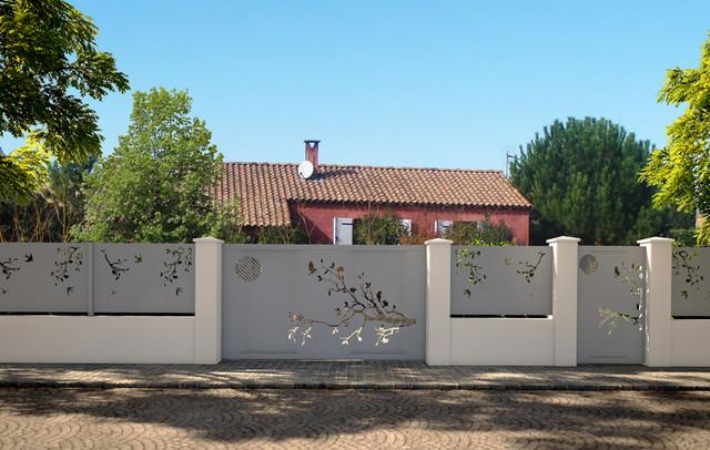 Conception portails et clôtures - Contemporain - Jardin ...