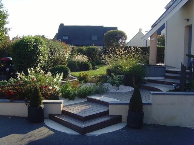 Entree Contemporain Jardin Rennes Par Concept Plan Tes