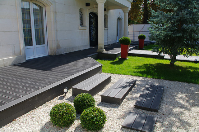 Entr e paysag e contemporain jardin paris par for Creation de jardin exterieur