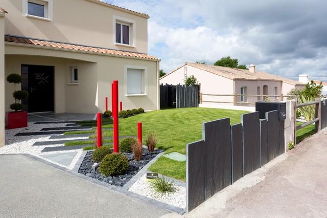 Entrée paysagée moderne - Minimalistisch - Garten - Nantes ...
