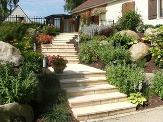 escalier campagnard campagne jardin le havre par. Black Bedroom Furniture Sets. Home Design Ideas