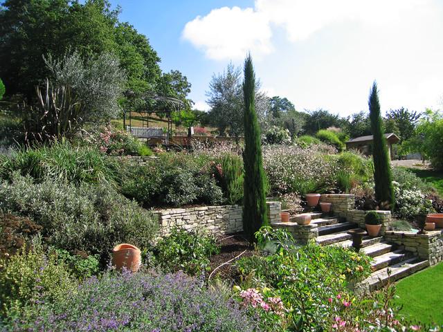 escalier entour de plantations contemporain jardin autres p rim tres par adh paysages. Black Bedroom Furniture Sets. Home Design Ideas