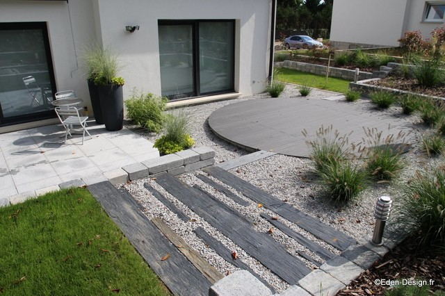 Jardin contemporain for Modele de jardin moderne