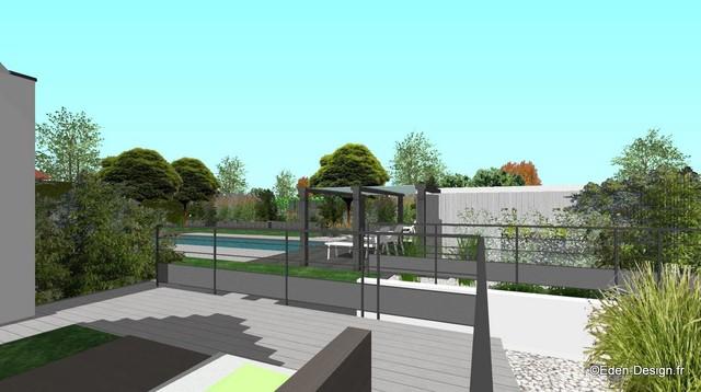 Jardin contemporain épuré