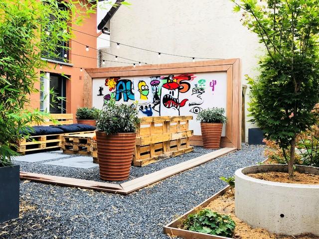Amenagement Patio jardin d'expression : l'aménagement original d'un patio - industrial