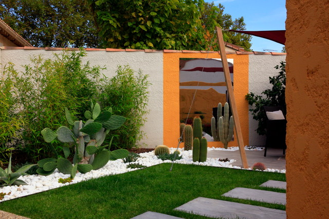 Jardin mexicain tropical landscape marseille by for Amenagement exterieur 3d
