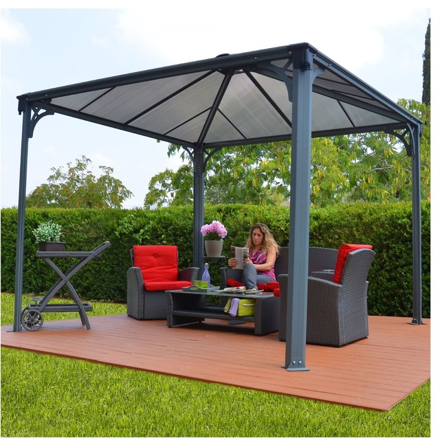 kiosque tonnelle carr e 3x3m contemporain jardin autres p rim tres par alin a mobilier. Black Bedroom Furniture Sets. Home Design Ideas
