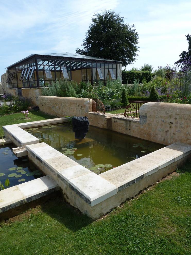Exemple d'un jardin tendance.