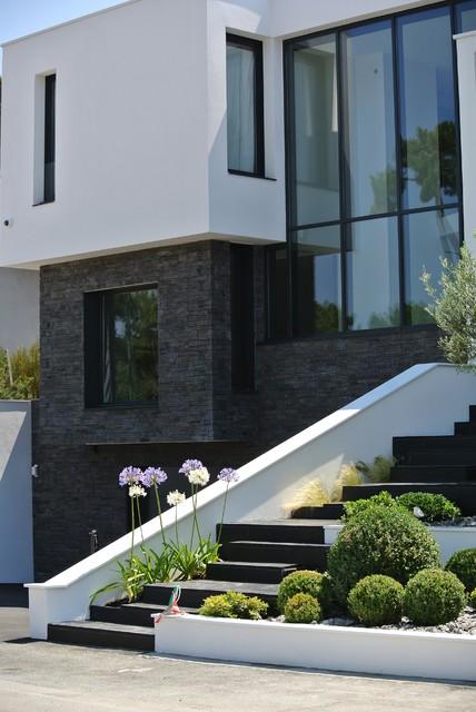 Parement pierre Orsol de chez Hémisphère réalisation Architecte L ...