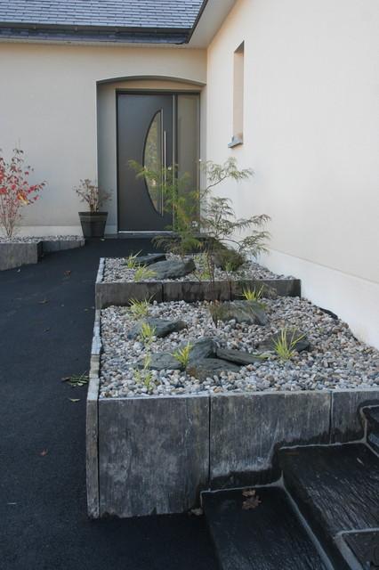 Parterre esprit zen asiatique jardin angers par eurl olivier dubois for Jardin japonais angers