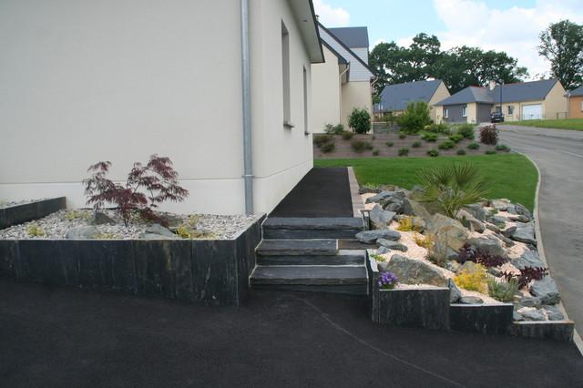 parterre esprit zen asiatique jardin angers par eurl olivier dubois. Black Bedroom Furniture Sets. Home Design Ideas