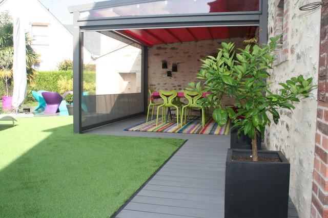 pergola et terrasse bois composite  Contemporain  Jardin  other