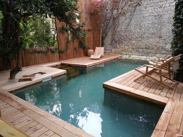 Piscine bois hors sol sur mesure campagne jardin for Eclairage piscine bois
