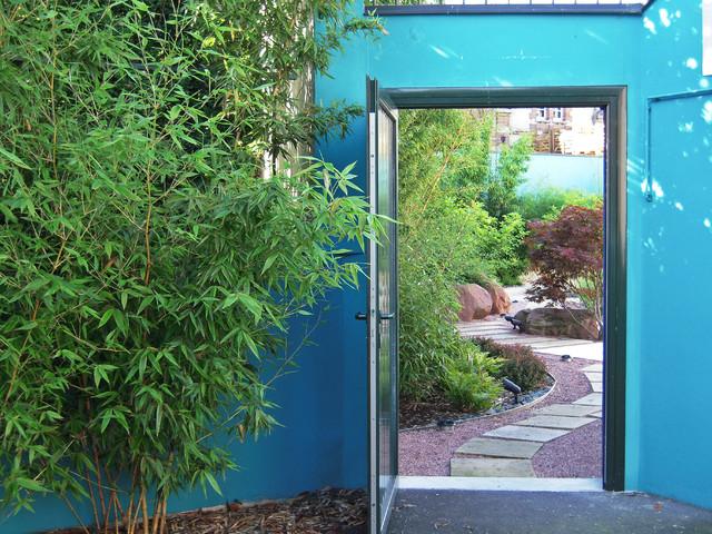 Porte d\'entrée du jardin - Asiatique - Jardin - Reims - par Artopia