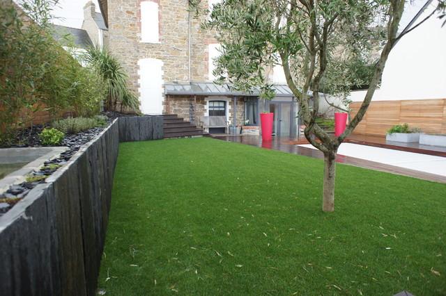 Projet Saint Malo   Paysagiste Rennes   Contemporain   Jardin   Rennes    Par Extérieurs à Vivre