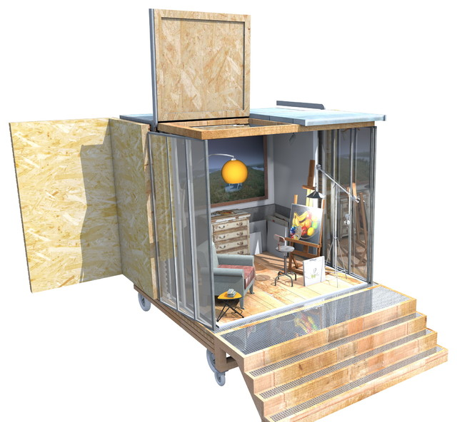 un cube dans mon jardin contemporain jardin nantes. Black Bedroom Furniture Sets. Home Design Ideas