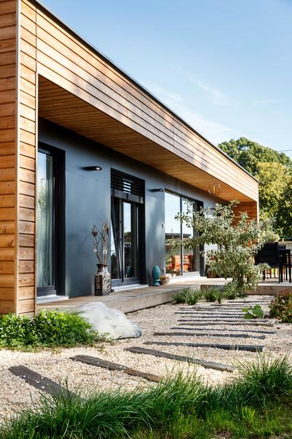 Un jardin contemporain contemporain jardin - Amenager un jardin contemporain ...