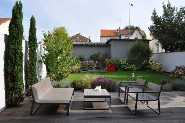 Un jardin de ville moderne jardin paris par garden for Jardin urbain contemporain