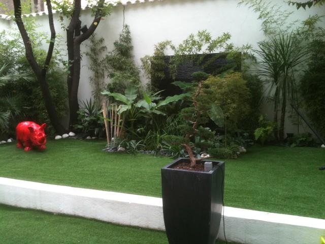 un jardin exotique exotique jardin other metro par simon bonneau paysage. Black Bedroom Furniture Sets. Home Design Ideas