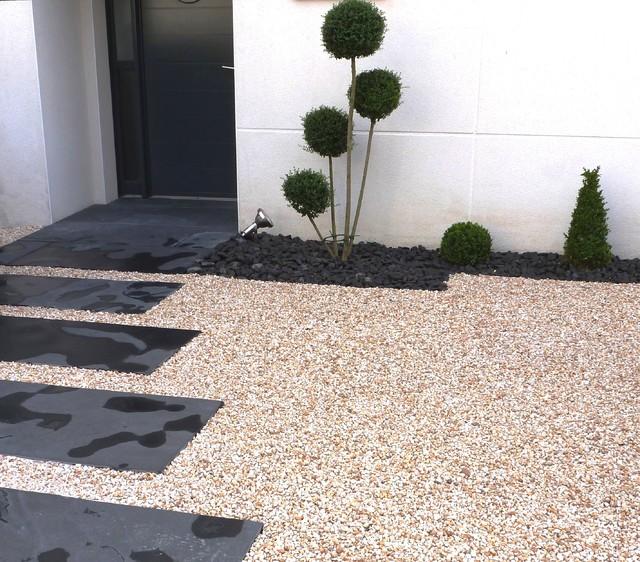 Une entrée de maison - Modern - Garten - Rennes - von ENVIE ...