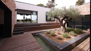 Jardin Avec Une Terrasse En Bois Ou Composite Photos Et Idees