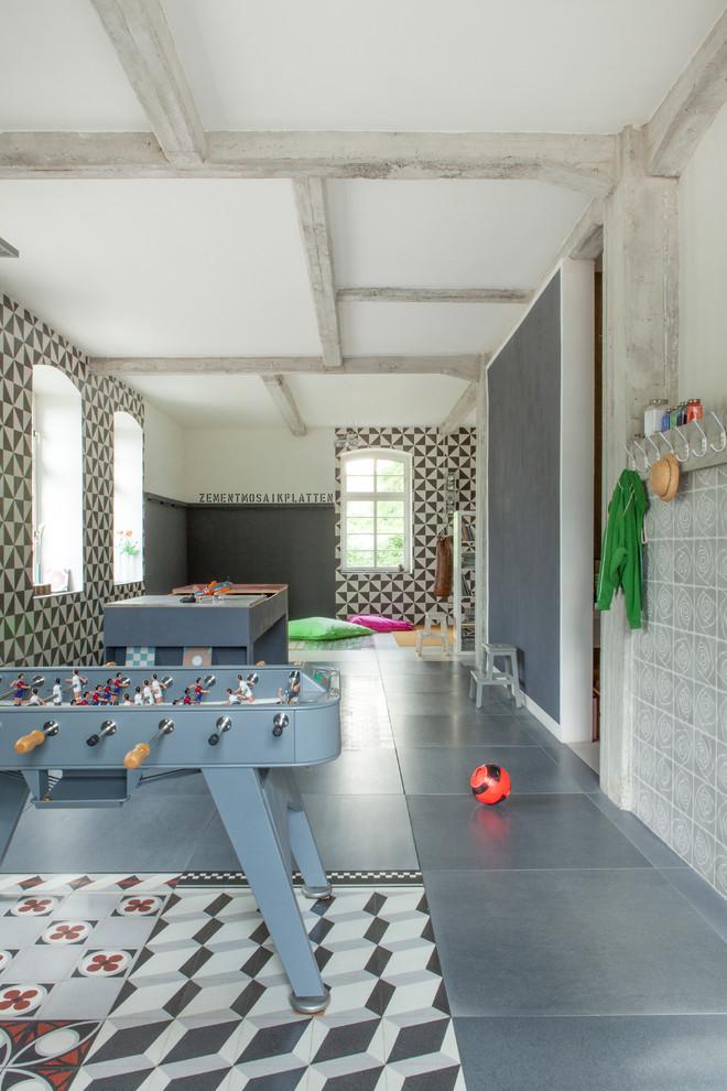 Выдающиеся фото от архитекторов и дизайнеров интерьера: подвал в стиле фьюжн
