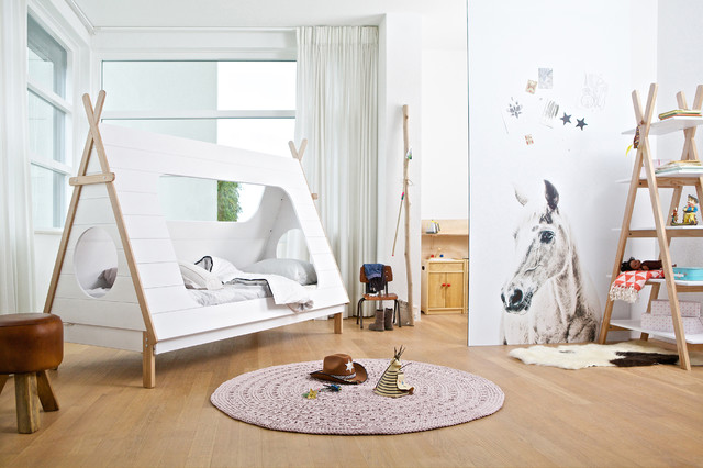 Hanging beds from ceiling - Camping Themed Kids Bedroom Lifestyle Scandinavian Kids
