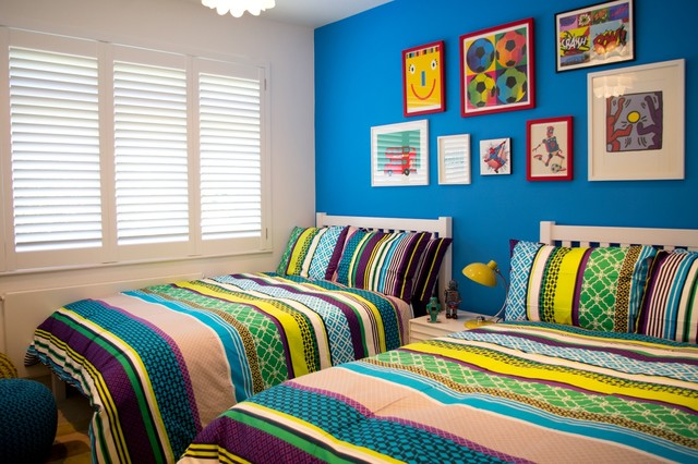 Colourful boys bedroom contemporary kids london by for Bedroom designs london