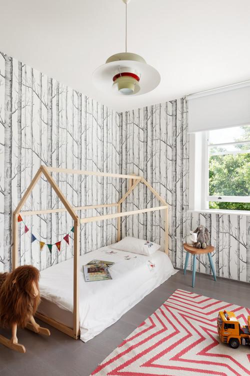 可愛い子供部屋の壁紙施工事例