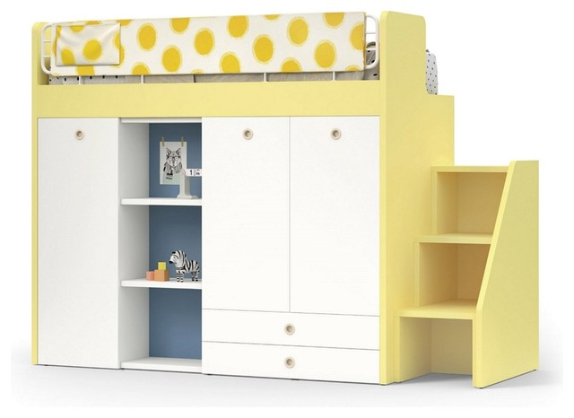 Nidi Childrens Bunk Bed With Storage Solutions Contemporary Kids