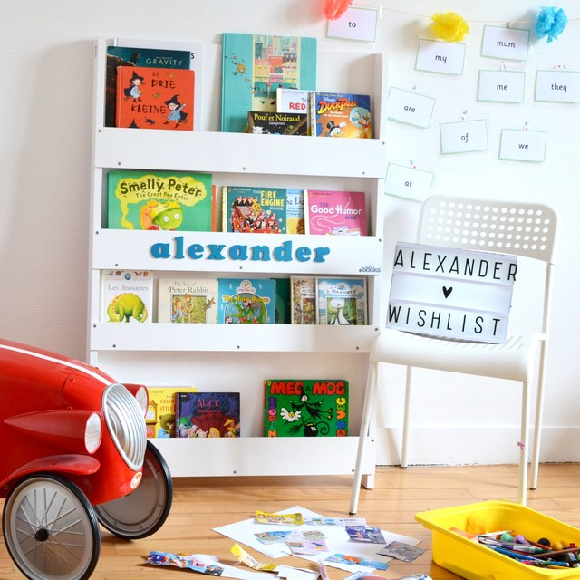 Personalised Bookcase White Scandinavian Kids