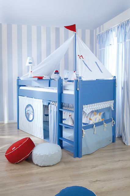 Sailboat themed kids room Beach Style Kids london