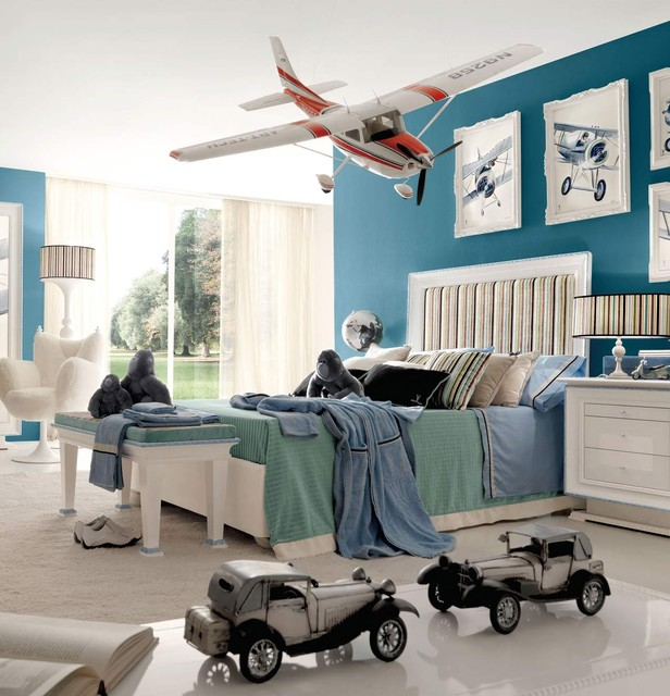 Willy aviation inspired kids bedroom by imagine living for Airplane bedroom ideas