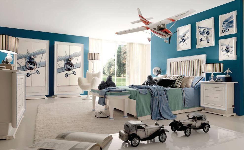 Minimalist kids' room photo in London